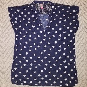 Navy blue with white stars dress shirt!